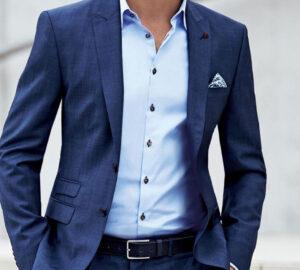 Blå skjorter til mænd – 51 elegante eksempler