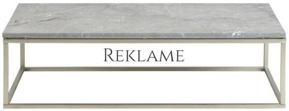 Bran – Sofabord m. rå marmorplade (Grå)