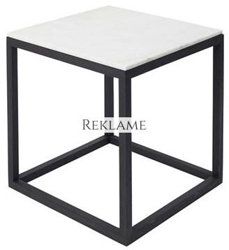 Kristina Dam – Cube Table Marble (Hvid)