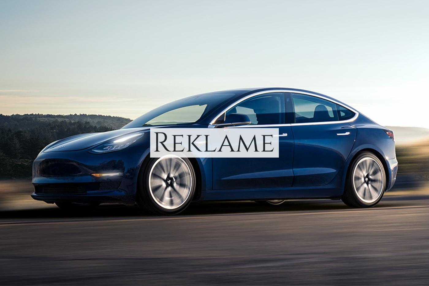 Tesla Model 3 kan blive din for under 500.000 kroner